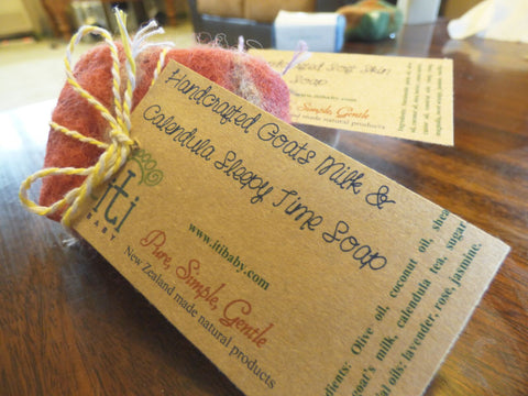 100% Natural Handcrafted felted soaps