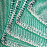 Apple Green Baby Blanket With Crochet Edging