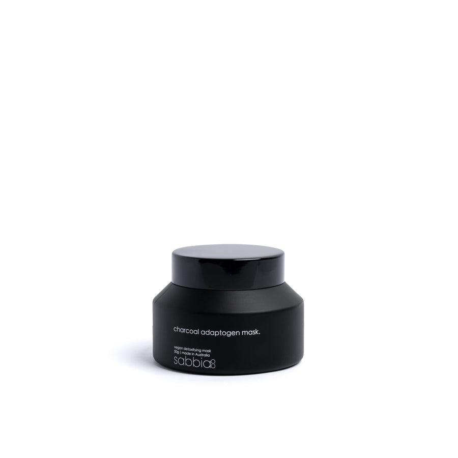 The Charcoal Adaptogen clay Mask is your go-to mask to detoxify, brighten and purify problematic skin for GOOD.