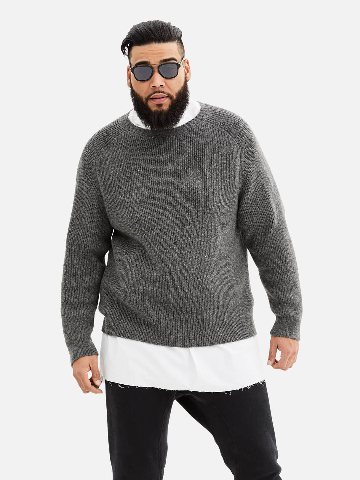 Cashmere Rib Sweater