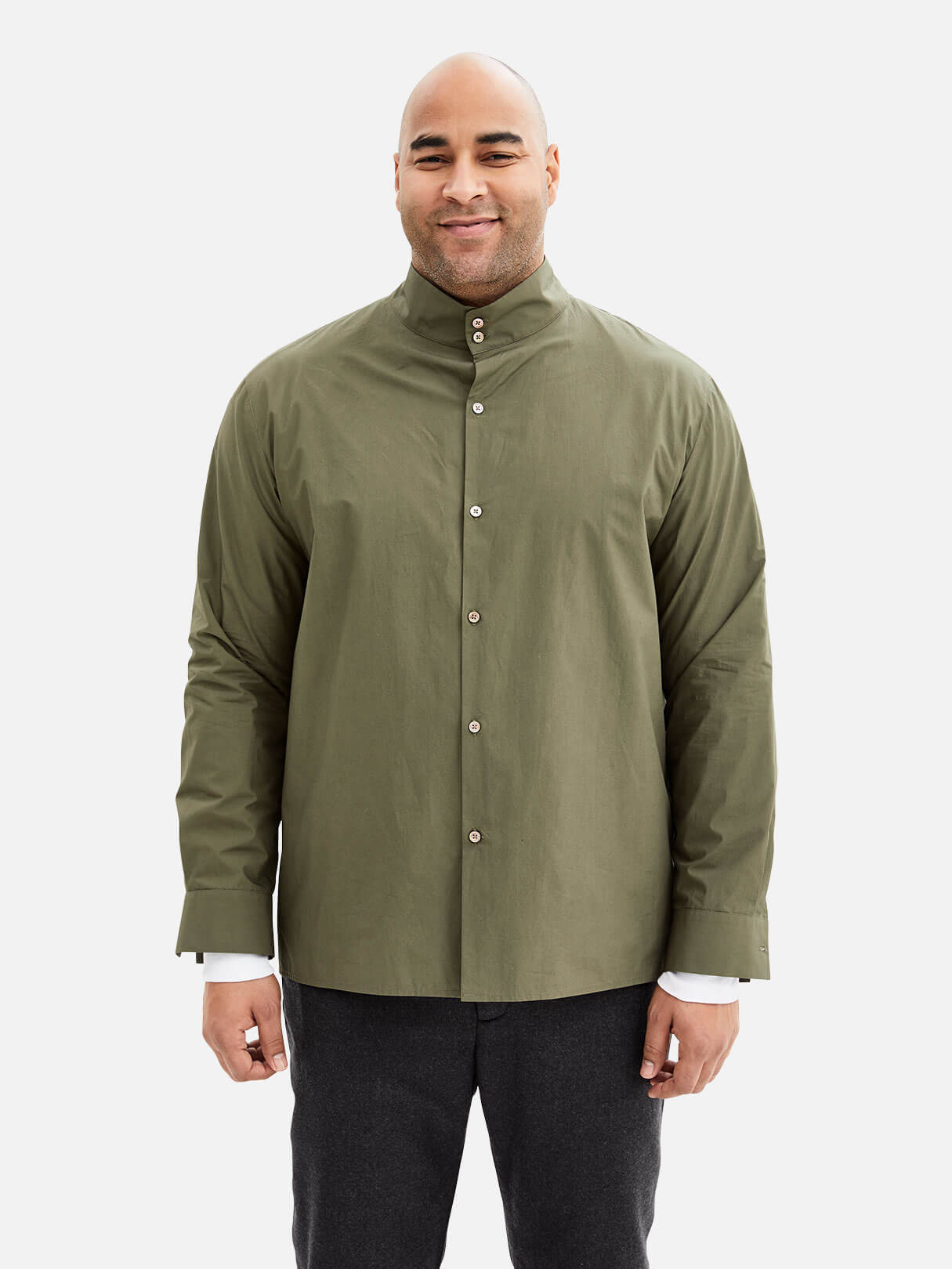 Button Mockneck Shirt