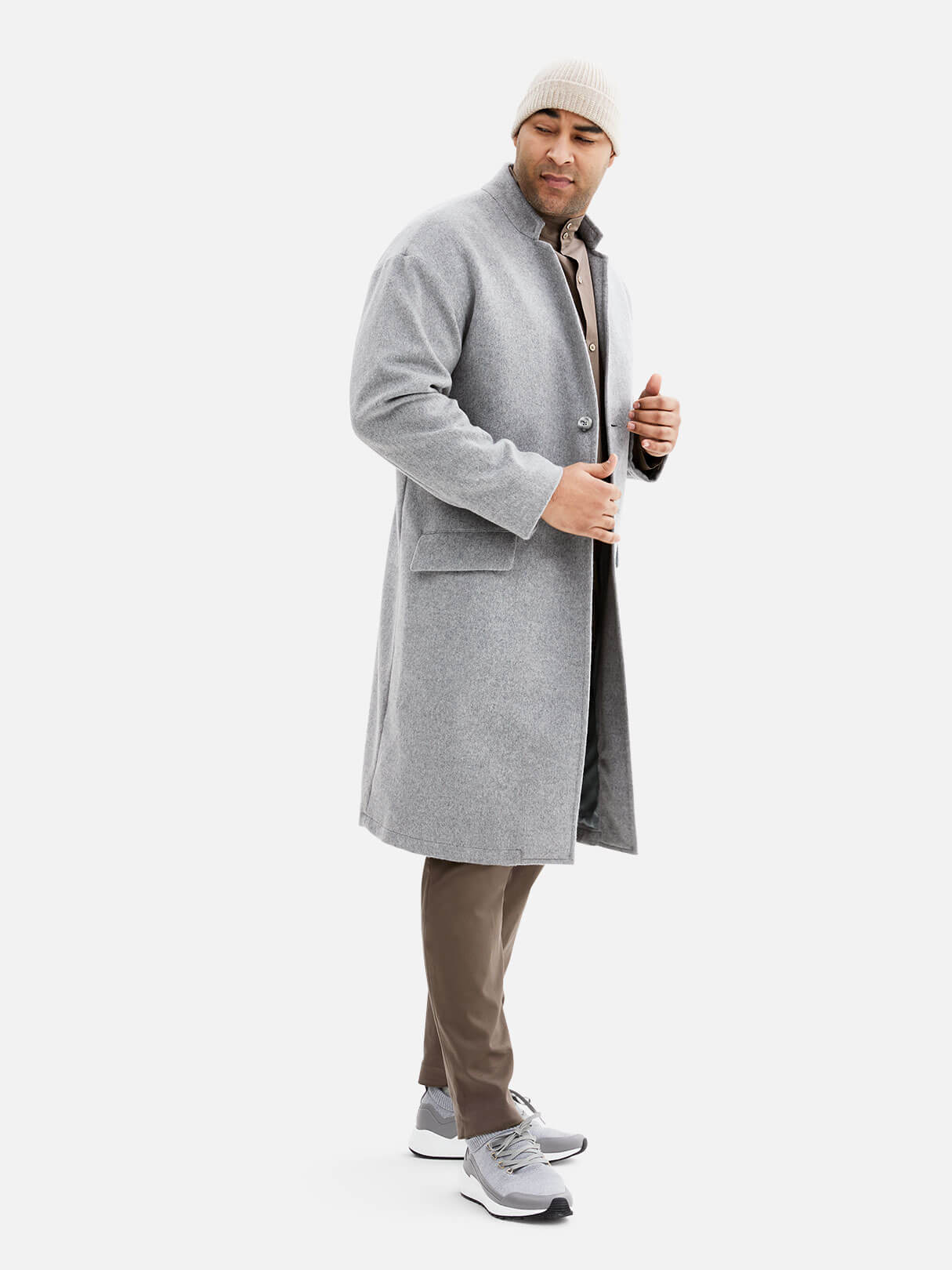 Stand Collar Topcoat