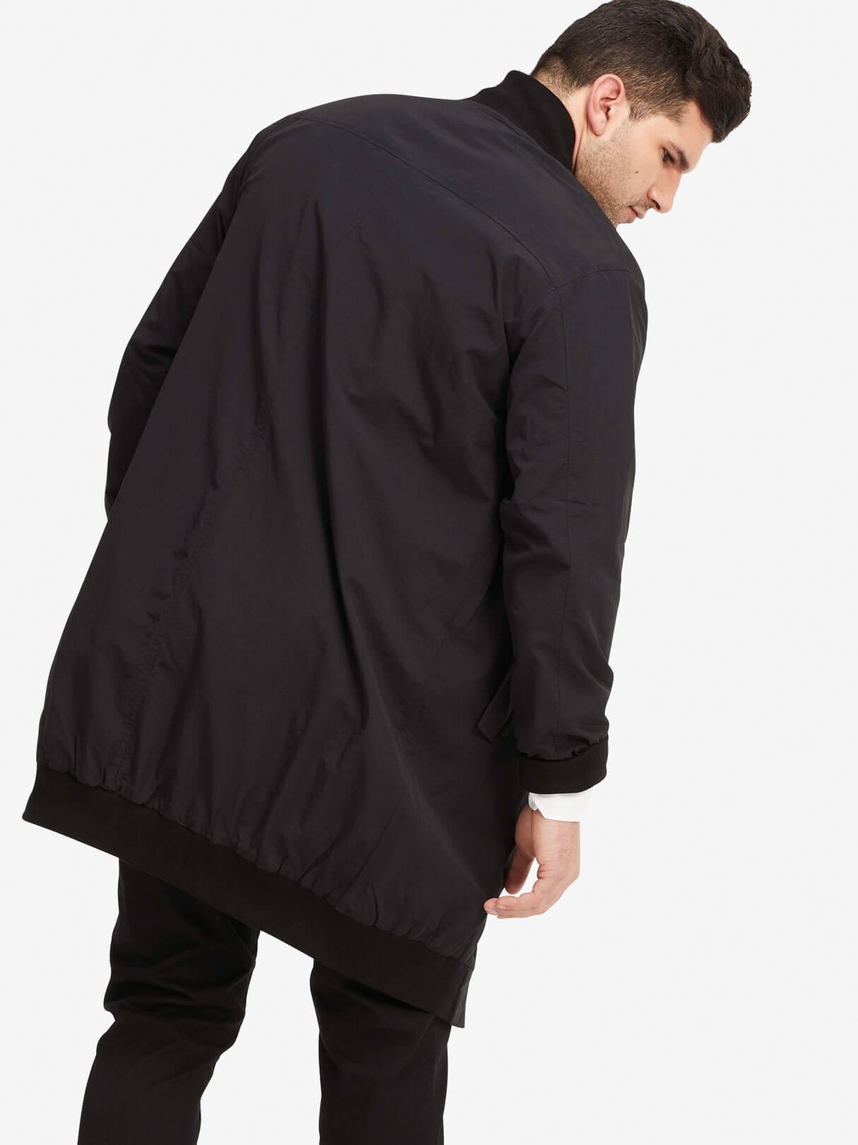 OAK NYC Long Zip Bomber Black Hero