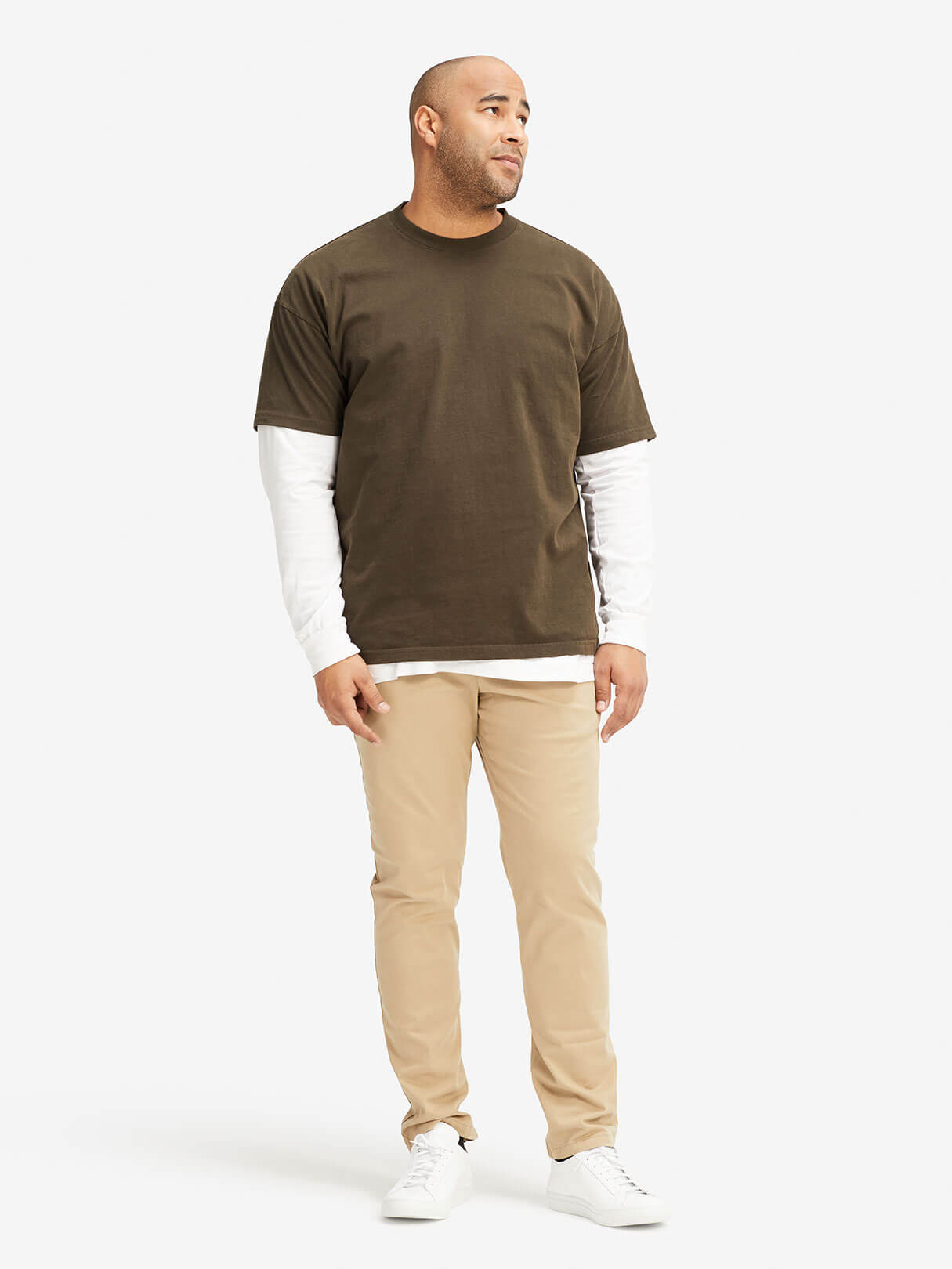 Oak NYC Basic Tee Green Hero