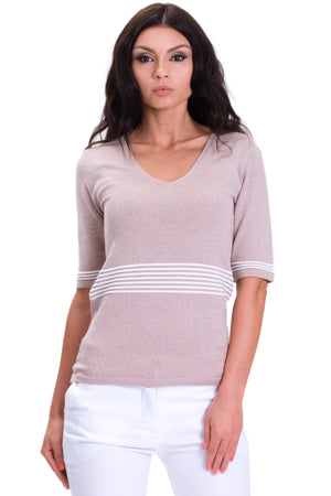 Classic V-Neck T-Shirt Top Blouse Sweater