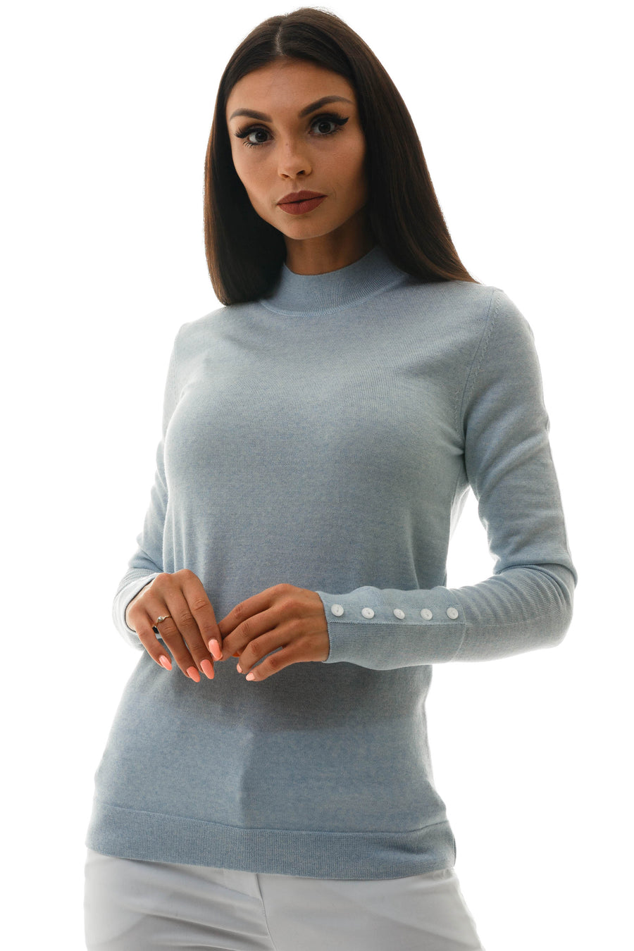 Merino Mock Neck Top