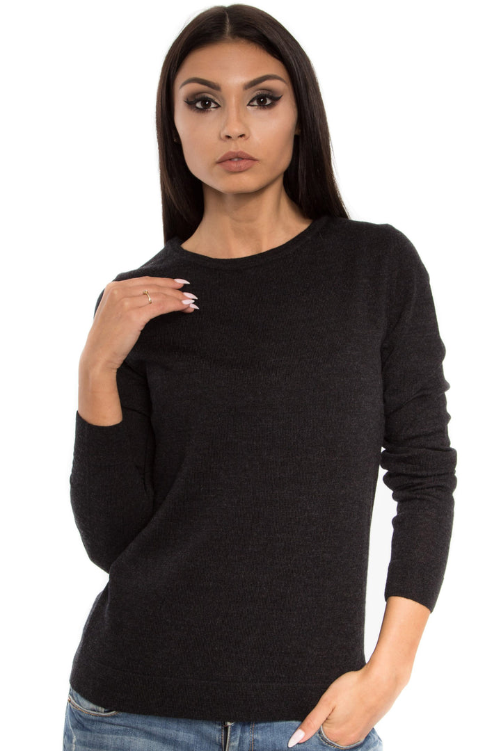 Merino Long Sleeve Crew Neck Top