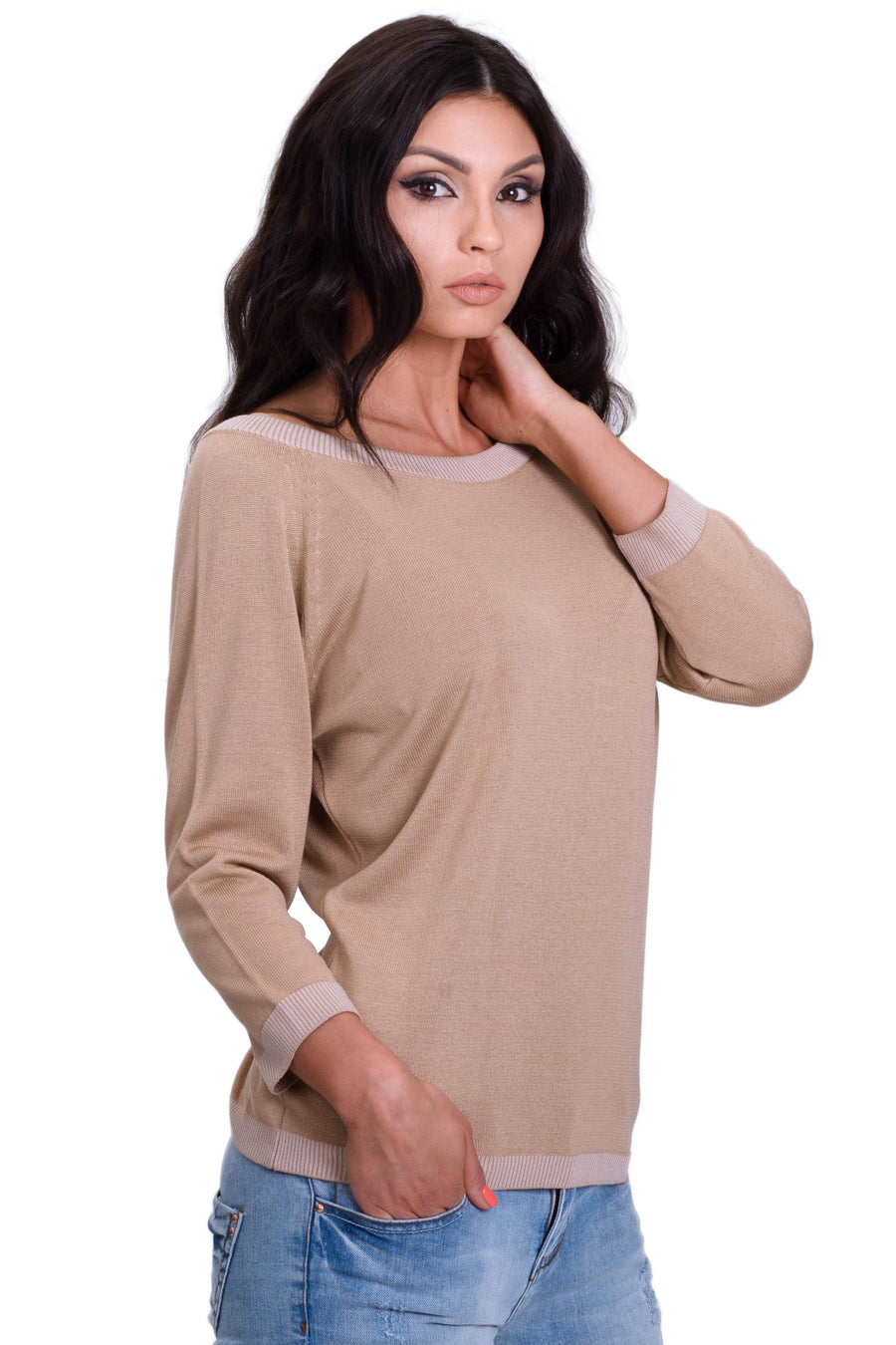 Casual 3/4 Sleeve T-Shirt