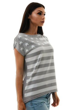 US Flag Knitted T-Shirt