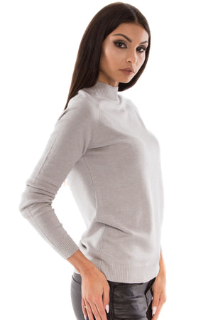 Polo Neck Long Sleeve Top