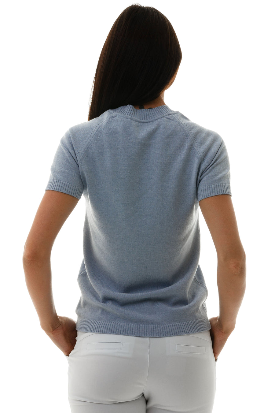 Polo Neck Short Sleeve Top