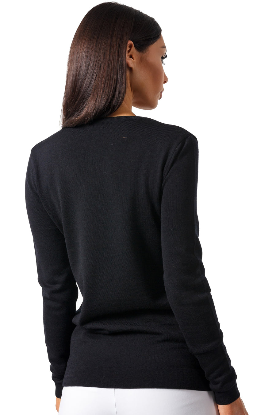 Extra Fine Merino V-Neck Top
