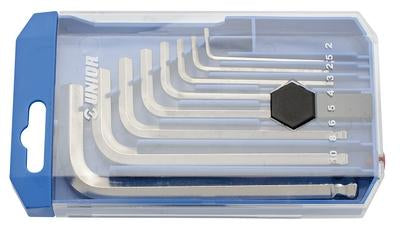 Set of Ball End Hexagon Wrenches, In A Plastic Box