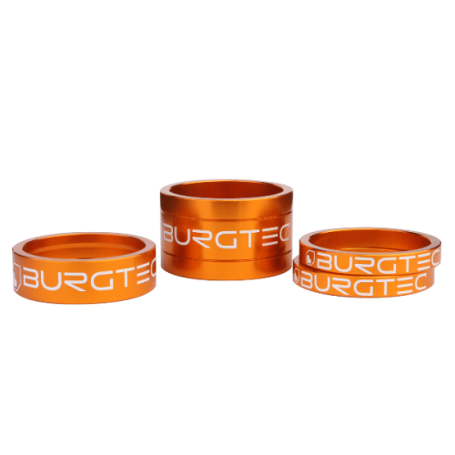 Burgtec Stem Spacers Iron Bro Orange