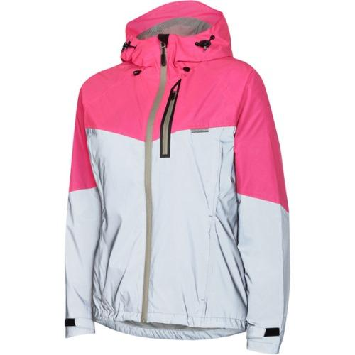Madison Stellar Womens Reflective Silver/Pink Glo Jacket Rear