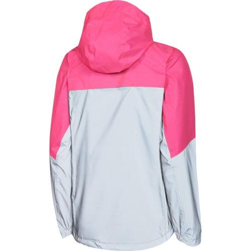 Madison Stellar Womens Reflective Silver/Pink Glo Jacket Front