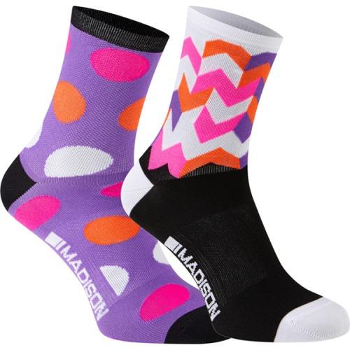 **Clearance** Madison Sportive Womens Mid Sock Twin Pack