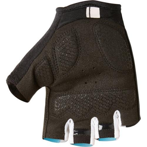 Madison Peloton Mens Cyan Blue Mitts Rear