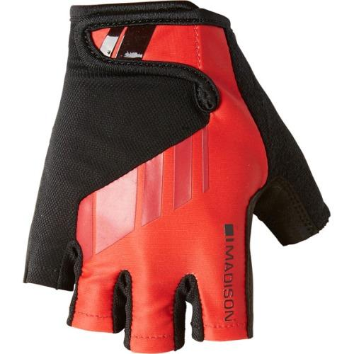 Madison Peloton Mens Red Mitts Front
