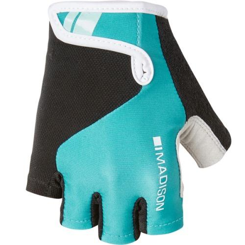 Madison Keirin Womens Peacock Blue Mitts Front