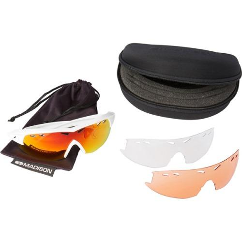 Madison Recon 3 Lens Kit Gloss White Frame - Fire Mirror/Amber/Clear Lens