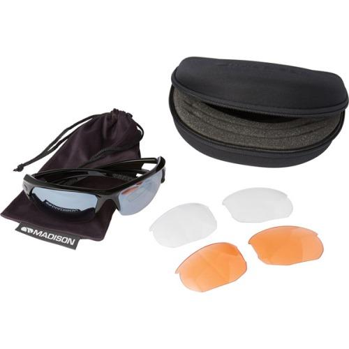 Madison Mission 3 Lens Kit Gloss Black Frame - Silver Mirror/Amber/Clear Lens