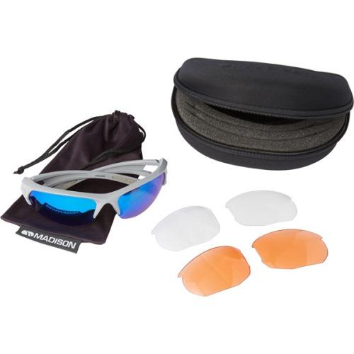 Madison Mission 3 Lens Kit Gloss Cloud Grey Frame - Blue Mirror/Amber/Clear Lens