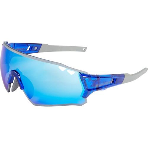 Madison Stealth Glasses Gloss Crystal Blue Frame, Blue Mirror Lens