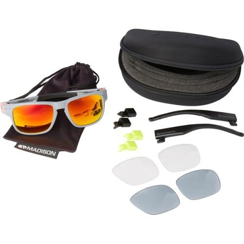 Madison Crossfire 3 Lens Kit Gloss Grey Frame - Fire Mirror/Smoke/Clear Lens