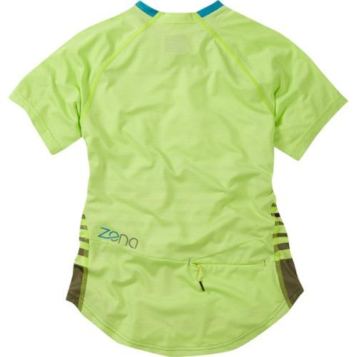 Madison Zena Womens Short Sleeve Sharp Green Jersey Rear