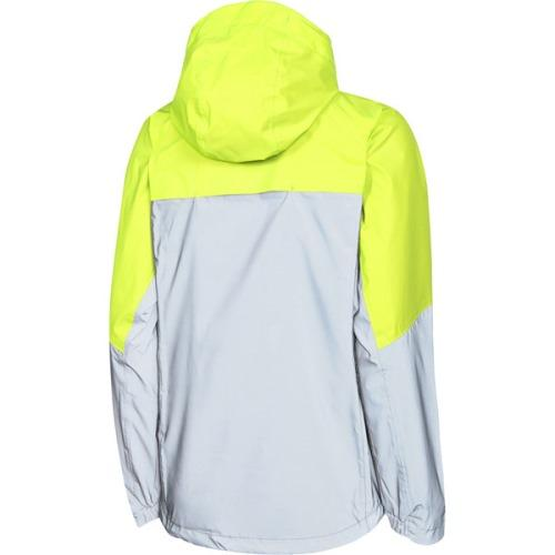 Madison Stellar Womens Reflective Silver/Hi-Viz Yellow Jacket Rear