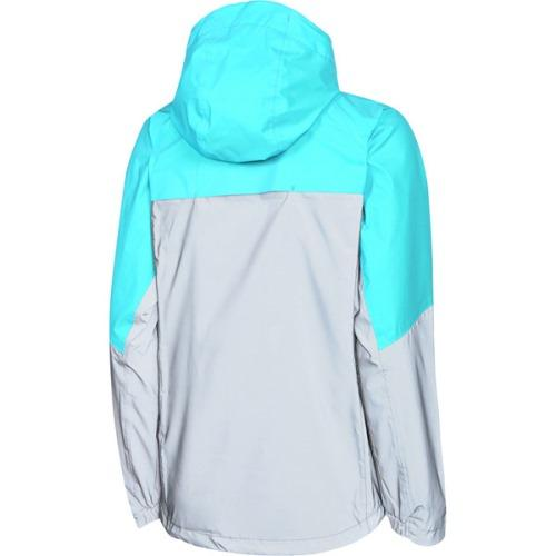 Madison Stellar Womens Reflective Silver/Caribbean Blue Jacket Rear