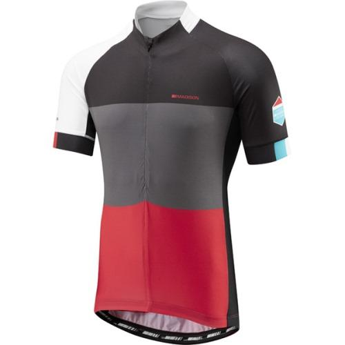 **Clearance** Madison Sportive Mens Half Zip Short Sleeve Jersey