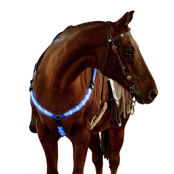Adjustable LED Light Horse Chest Belt Nylon Webbing
