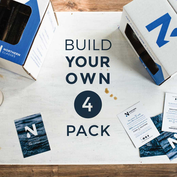 Build your own 4 pack of glasses