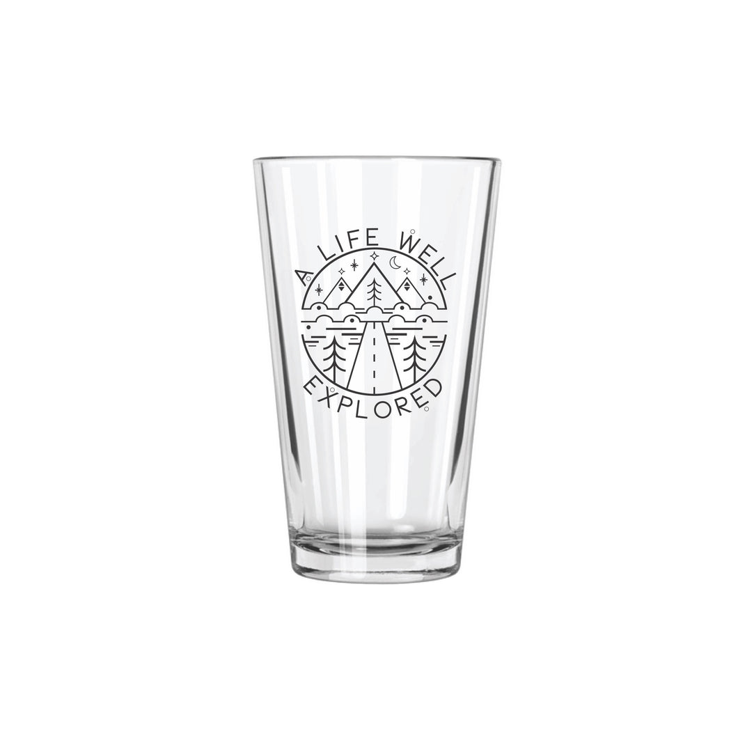 A Life Well Explored Pint Glass - Northern Glasses Pint Glass