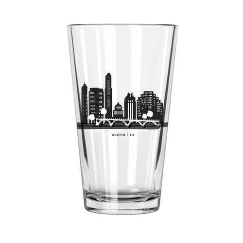 Austin Skyline Pint Glass - Northern Glasses Pint Glass