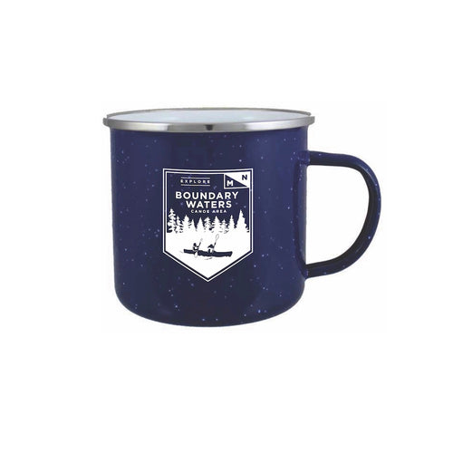 Boundary Waters Enamel Campfire Mug - Northern Glasses Pint Glass