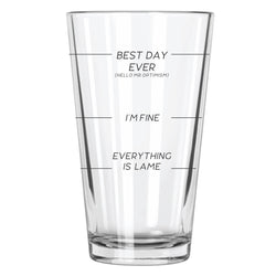 Beer Gauge - Northern Glasses Pint Glass