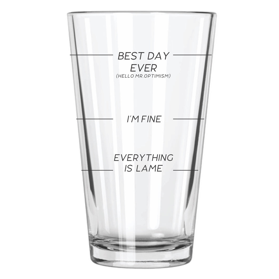 Beer Gauge Beer Glass - Northern Glasses Pint Glass