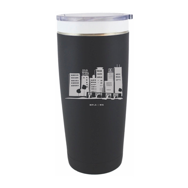 Minneapolis Skyline Stainless Travel Mug (20 oz.) - Northern Glasses Pint Glass