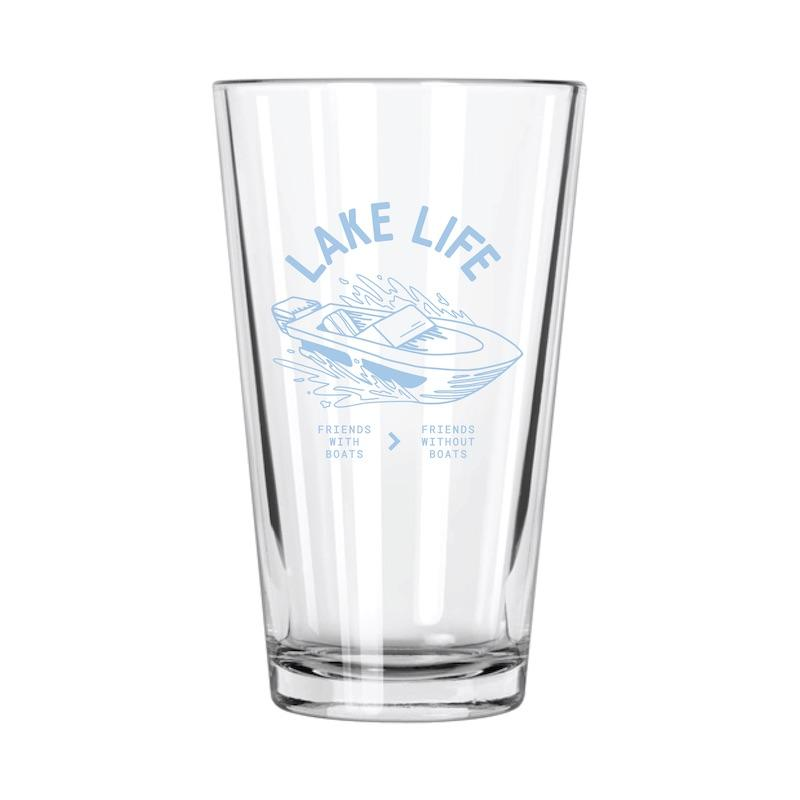 Lake Life: Friends With Boats > Friends Without Boats Pint Glass - Northern Glasses Pint Glass