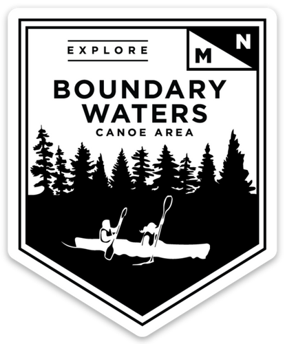 Boundary Waters Sticker - Northern Glasses Pint Glass