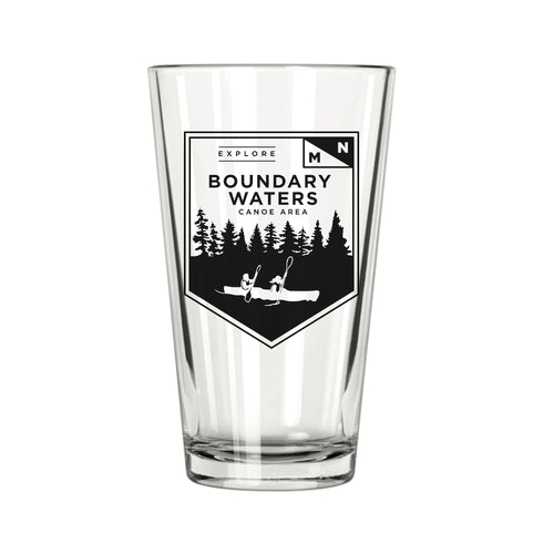Explore MN: Boundary Waters Pint Glass - Northern Glasses Pint Glass