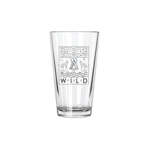 Call of the Wild Pint Glass - Northern Glasses Pint Glass