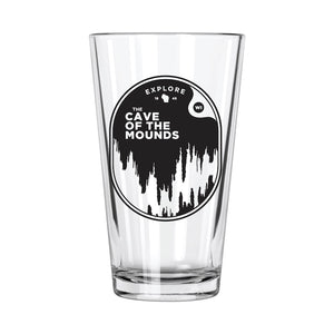 Explore WI: Cave of the Mounds Pint Glass - Northern Glasses Pint Glass