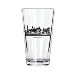 Charleston Skyline Pint Glass - Northern Glasses Pint Glass