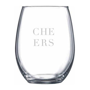 Cheers Stemless Wine Glass - Northern Glasses Pint Glass