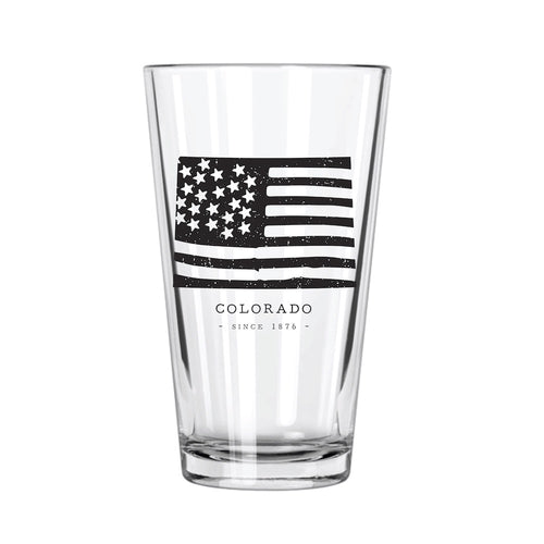 American Road Trip: Colorado Pint Glass - Northern Glasses Pint Glass