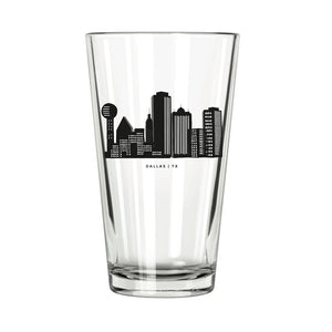 Dallas Skyline Pint Glass